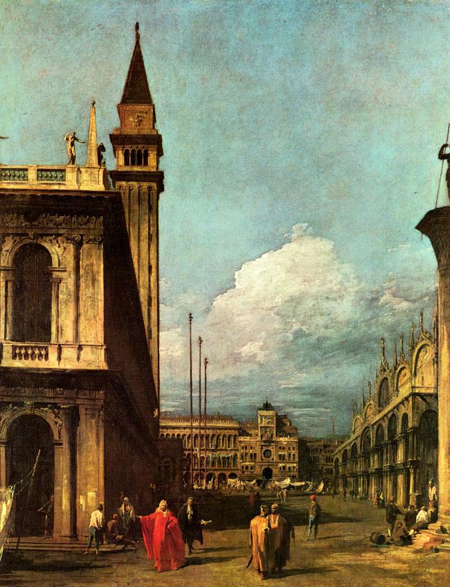 Canaletto - horloge