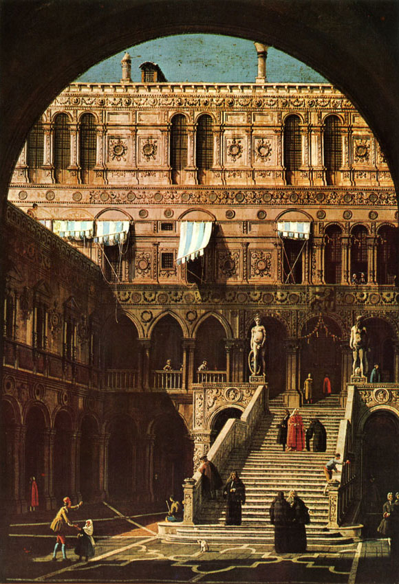 Canaletto - escalier