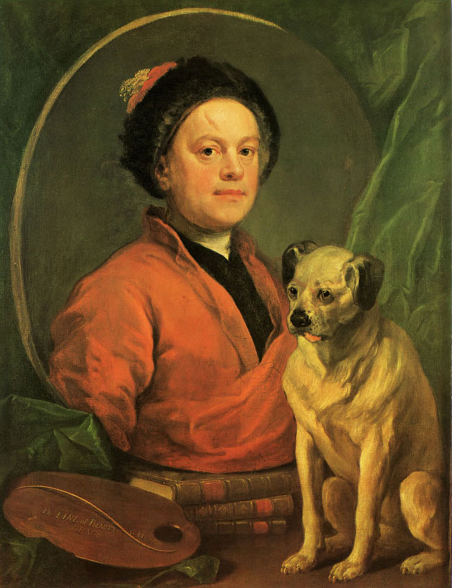 hogarth - autoportrait